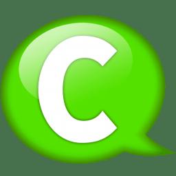 Speech balloon green c icon