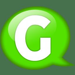 Speech balloon green g icon