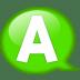 Speech-balloon-green-a icon