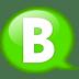 Speech-balloon-green-b icon