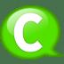 Speech-balloon-green-c icon