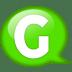 Speech-balloon-green-g icon