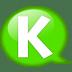 Speech-balloon-green-k icon