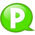 Speech-balloon-green-p icon