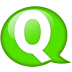 Speech-balloon-green-q icon