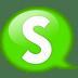 Speech-balloon-green-s icon
