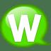 Speech-balloon-green-w icon