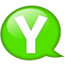 Speech-balloon-green-y icon