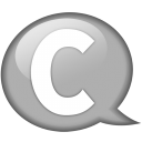Speech balloon white c icon