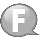 Speech-balloon-white-f icon