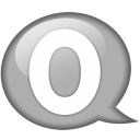 Speech balloon white o icon