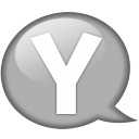 Speech balloon white y icon