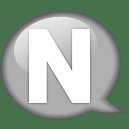 Speech balloon white n icon