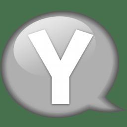 Speech balloon white y icon