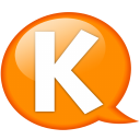 Speech-balloon-orange-k icon