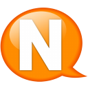 Speech balloon orange n icon