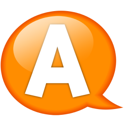 Speech balloon orange a icon