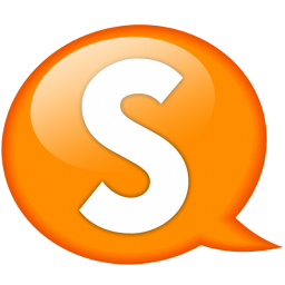 Speech balloon orange s icon