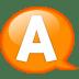 Speech-balloon-orange-a icon