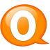 Speech-balloon-orange-o icon