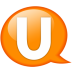 Speech-balloon-orange-u icon