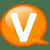 Speech-balloon-orange-v icon