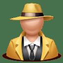 Gangster man icon