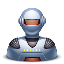 Robot-male icon