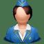 Airhostess woman icon