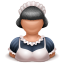 Maid-girl icon