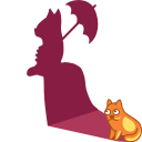 Cat shadow lady icon