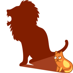 Cat shadow lion icon
