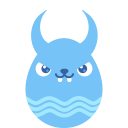Blue demon icon