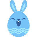Blue happy icon