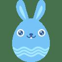Blue smile icon