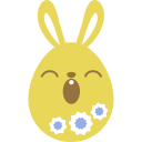 Yellow sleepy icon