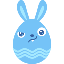 Blue wary icon