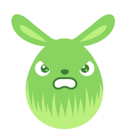 Green angry icon