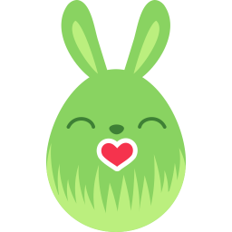 Green kiss icon