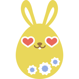 Yellow love icon