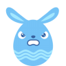 Blue-angry icon