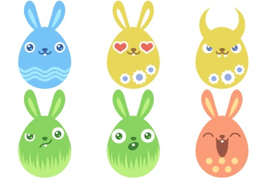 Easter Egg Bunny Icons