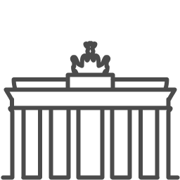 Berlin gate icon