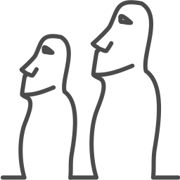 Easter island pascha statue icon