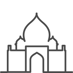 India tajmahal icon