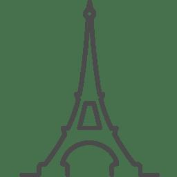Paris eiffel icon