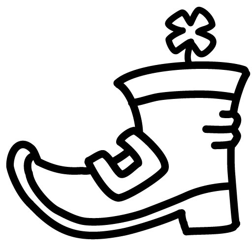Boot-clover-outline icon