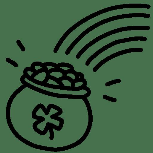 Rainbow-gold-outline icon