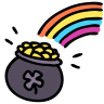 Rainbow-pot icon