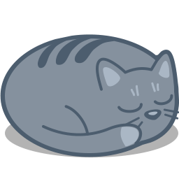 Cat sleep icon
